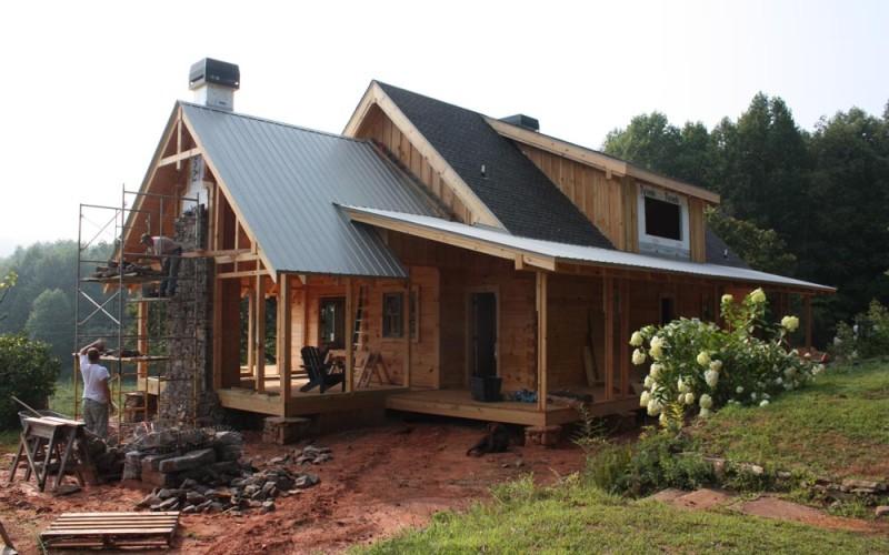 Log homes dearman mountain homes for Log home addition